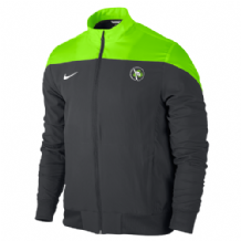 Lisburn Taekwondo Sideline Woven Jacket Adults - Anthracite/Electric Green